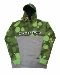 Толстовка с капюшоном FullT Horizont Зелено - Серая 1601-302-008