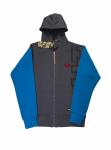 Толстовка с капюшоном FullT T Серо - Синяя 1601-401-012