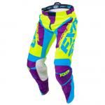 Штаны FXR Clutch MX Hi-Vis/Purple/Blue 173304-6580-34