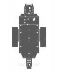 Защита днища квадроцикла Polaris Ranger RZR/RZR-S 40.1718