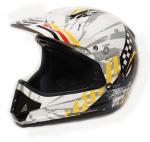 Шлем кроссовый Skidoo XC-1 Holeshot белый с рисунком XS 4474060210