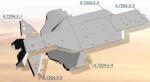 Защита днища полная Rival для Can-Am Commander 4.7204.2