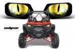 Наклейки на фары Polaris RZR 1000 AMR Racing Eclipse Yellow Nightmare 564561118-EY  564561118-N