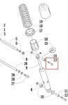 Болт амортизатора заднего ArcticCat BearCat Widetrak / T660 / Panther 8020-226