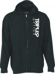 Толстовка TRIPLE 9 logo zip hoody цвет черный 37-2740