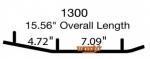 Коньки для снегохода Polaris Indy / Rush / Switchback / IQ Widetrak / 2879025 / EPI3-1300 / WPI-1300 9545-03