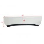 Стекло лобовое 1/2 для Polaris RZR 800/900/570 Kemimoto FTVWS006