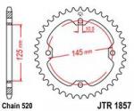 Звезда квадроцикла задняя JT 40 зубов jtr1857 для Yamaha Raptor YFM700, YFM350, YFM250, JTR1857.40
