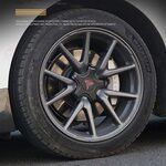 """Заглушки колесных дисков (комплект) 18"""" Tesla Model 3 WC-0071"""